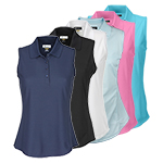 9946 Greg Norman Ladies Sleeveless Poly Polo Shirt (K448)